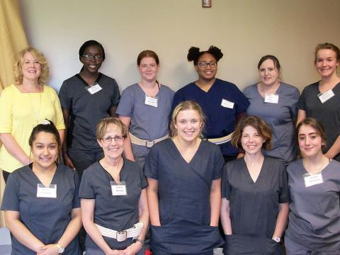 NTC Spencer campus CNA Graduates stand together