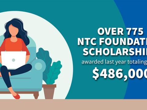 Over 775 NTC Foundation Scholarships awarded last year totaling over $486,000