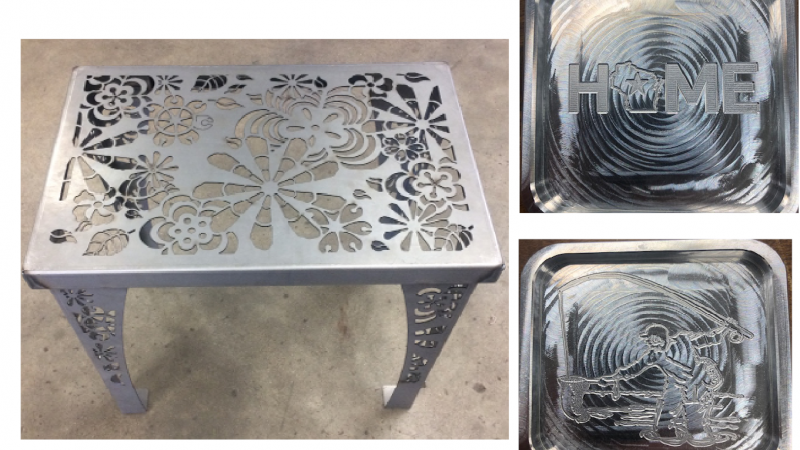 Metal Table and Coasters