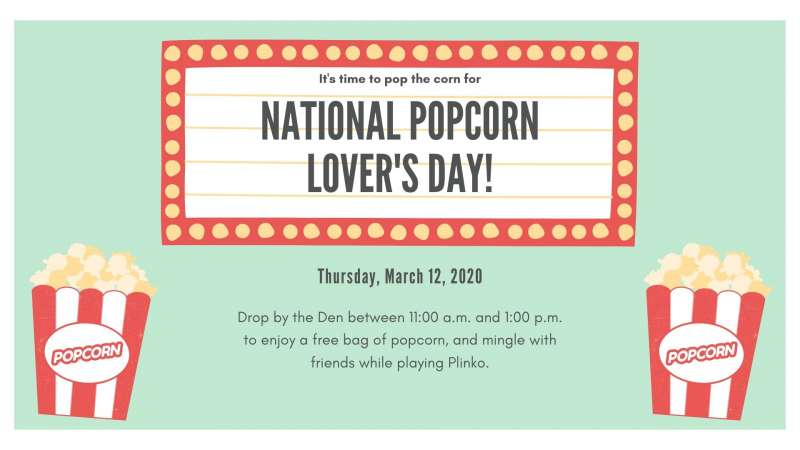 National Popcorn Lover's Day March