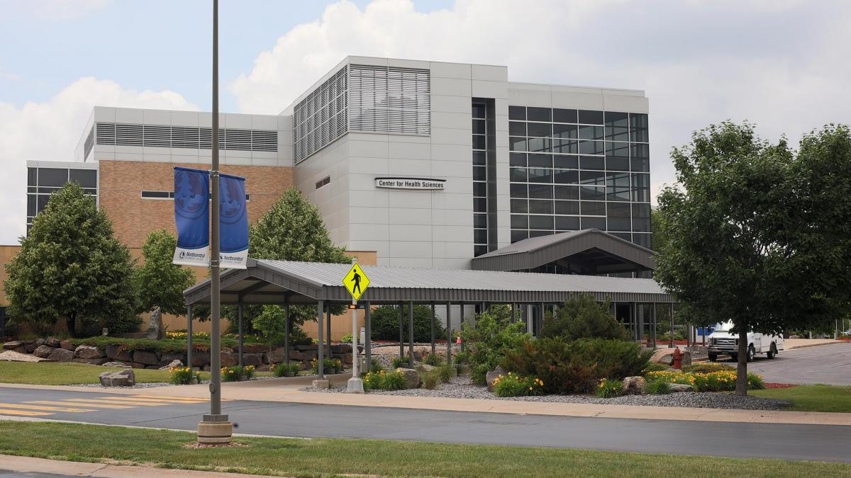 NTC Center for Health Sciences Building, as seen from the exterior across the street.