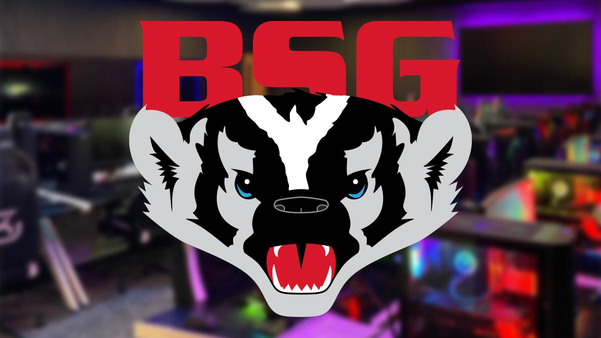 Badger State Games Logo and NTC esports Arena
